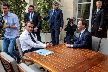 Macron y Zuckerberg