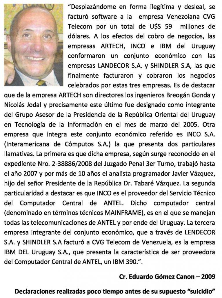 Mujica esta financiando el nuevo MLN