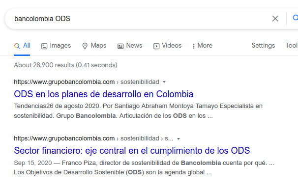 Bancolombia ODS